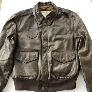 A-2 Type Leather Flight Jacket-Vintage-EUC